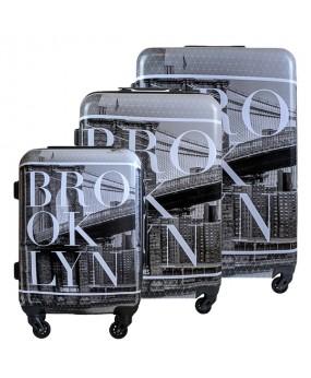 KOMPLET WALIZEK DAVID JONES NEW YORK BROOKLYN